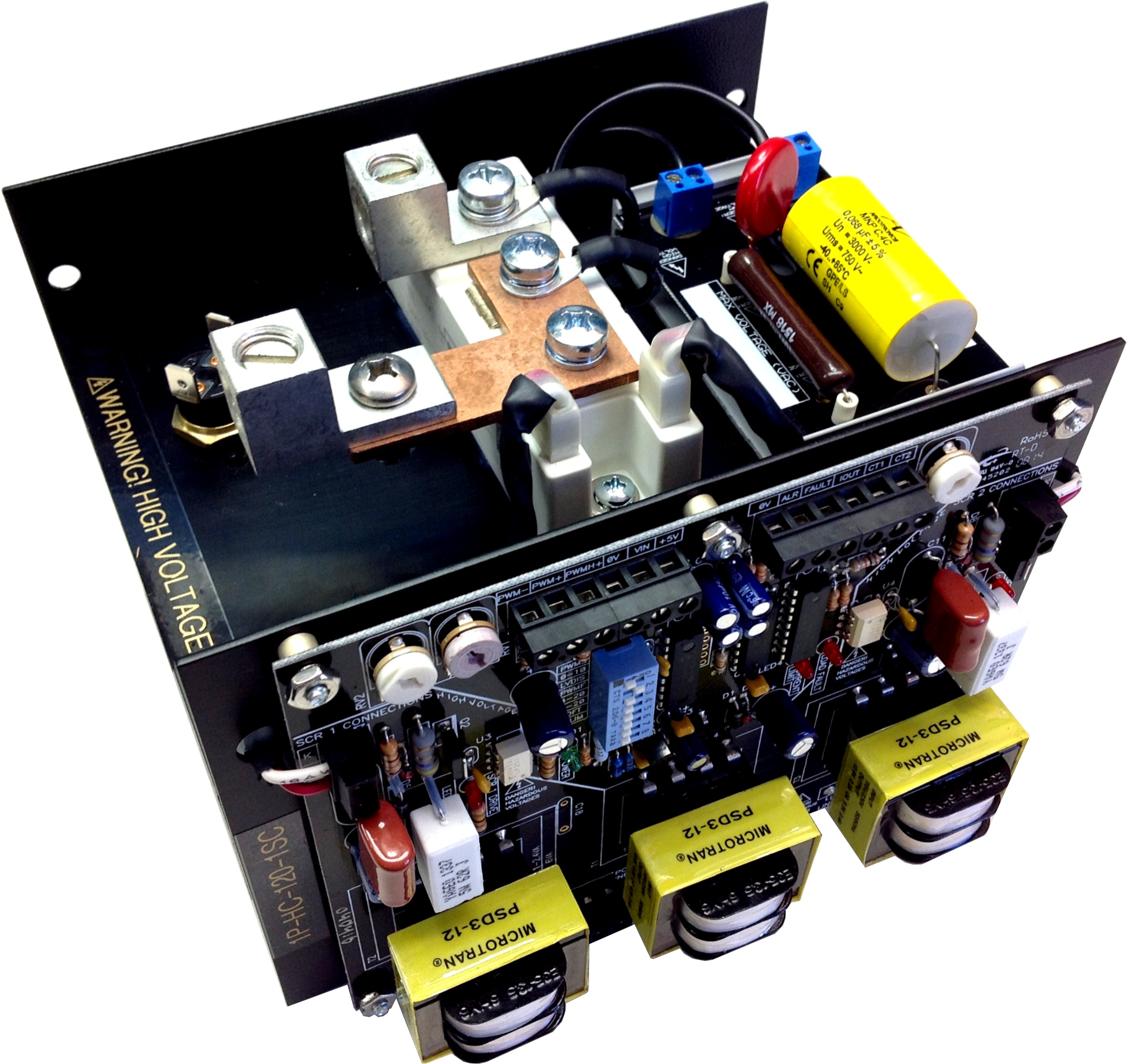 SCR Power Controller   phase angle control to 200A   soft